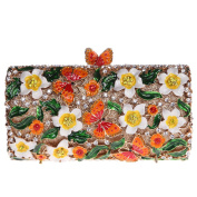 Bonjanvye Butterfly Clutch with Chain Purse Clutch Evening Bags