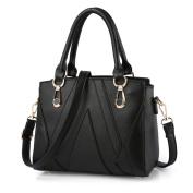 VANCOO Leather Look V Shape Stitching Ladies Shoulder Bag Handbag for Women