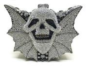 Metal Clutch Bag Handmade Evening Bag Ladies Fashion Skull Shoulder Messenger Bag Chain Bag