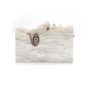 GSHGA Acrylic Clutch Bag Wooden Evening Handbag Shoulder Bags For Party Wedding Clubs