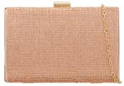 Girly HandBags Luxury Shimmer Satin Hard Case Clutch Bag Diamante Encrusted Evening Party Wedding Handbag