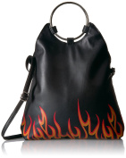 T-Shirt & Jeans womens Flap Over Ring Bag With Flames