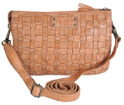 Giann Conti Small Fine Italian Leather Patchwork Three Section Bag - 4503373