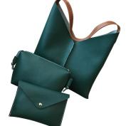 Xshuai 3Pcs Women's Ladies Fashion Leather Shoulder Bags & Crossbody Bag & Handbag
