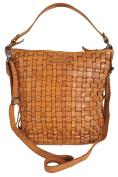Gianni Conti Italian Fine Leather Tan Large Bucket Hobo Shoulder Bag - 4503354