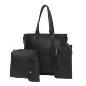 Sonnena Women Four Set Handbag Shoulder Bags Four Pieces Tote Bag Crossbody Wallet