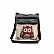 BESTOPPEN Women Shoulder Bag,Ladies Fashion Embroidered Owl Tote Bag Girls Lovely Handbag Cross Body Bag New Look Casual Mini Bag Messenger Bag Postman Package Bag