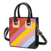 Handbags Fashion Hit Colour Small Square Package Europe And The United States Shoulder Bag Messenger Bag Handbag Stitching Small Bag