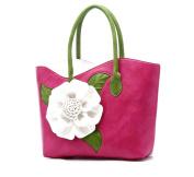 GSHGA New Handbag Messenger Shoulder Handmade Bag Chinese Style Three-dimensional Flower Bridal Bag Portable,Pink