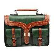 E-Bestar Women's Vintage PU Leather Retro Briefcase Satchel Messenger Crossbody Bag