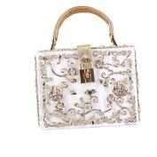 GSHGA Fashion Evening Bags Handmade Carved Hollow Bridesmaid Bag Handbag Shoulder Bags