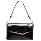 Millya Women Patent Leather Handbag Crocodile Print Tote Top-Handle Bag Ladies Evening Party Shoulder Bag