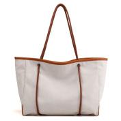 Women'S canvas shoulder bag,Knit handbag Leisure High capacity Crossbody bags for women Top-Handle bags-B