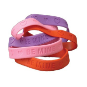 VALENTINE RUBBER BAND BRACELETS, SOLD BY 35 DOZENS