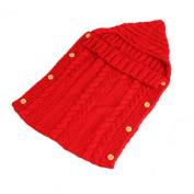 Panlom® Newborn Baby Sleeping Bag Infant Kids Toddler Wool Knit Blanket Swaddle Sleeping Bag Suitable for 0-12 Month Baby