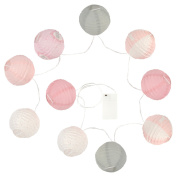 Atmosphera – LED Fairy Lights with 10 balls, Pink