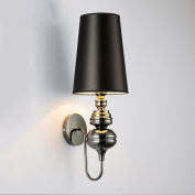 Iron wall lamp E27 screw cloth PVC lamp shade living room bedroom bedside lamp balcony aisle bar bar wall lamp interior lamp modern simple and creative European-style Nordic [energy A + level] A+