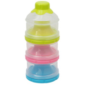 Lalang Stackable Formula Milk Powder Dispensers Baby Snack Container for Travel and Outdoor Activities