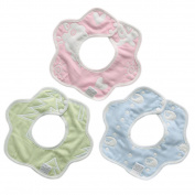 Saliva Bib, Fascigirl Baby Bib Snaps Petal Shape 360 Degree Rotating Drooler Bib Random Colour