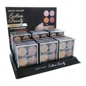 CITY colour Endless Beauty Highlight Quads Display Set, 24 Pieces