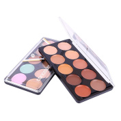 Yiwa Concealer 10 Colours Facial Cream Natural Long-lasting Foundation Makeup Concealer Palette Professional Beauty Tool