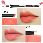 Magic Wand Lipstick Mermaid Acrylic Tube by UmayBeauty - Lipstick + Lip Gloss + Lip Balm + Black Shimmer Lip Coat 4 in 1 Lipstick