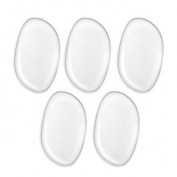 OOCOME 5Pcs Silicone Makeup Sponge Powder Puffs Silicone Makeup Puffs Washable Beauty Applicator for Powder Cream Concealer Foundation