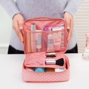 Cosmetic bag, Portable Travel Folding Make up Toiletry Bags with Hook Organiser Bags Cosmetic Bags, Multifunctional Canvas Pen Bag Pencil Case Makeup Tool Bag Storage Pouch Purse (Blue pattern)