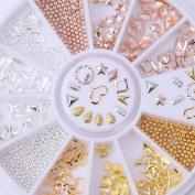 Profusion Circle 3D Nail Art Decoration Bead Rhinestones Tips DIY Manicure Wheel