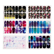 Domybest Water Transfer Foil Nail Stickers Mystery Galaxies(Flower) Manicure Design