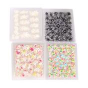 Domybest 50PCS Sparkling 3D Nail Art Sticker Decal Flower Makeup Tips