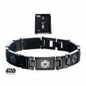 Star Wars Galactic Empire Logo Stainless Steel Bracelet w/Gift Box by Superheroes Brand