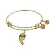 Angelica Brass Sisters Bangle Bracelet 18cm Adjustable
