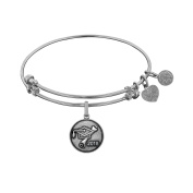 Angelica Collection White Brass Class Of 2018 Graduation Cap Diploma Charm Bangle Bracelet