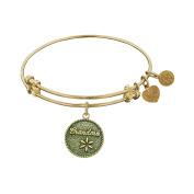 Angelica Collection Antique Yellow Brass Grandma Grandmother Bangle Bracelet