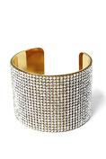 Womens Wide Full Cubic Rhinestones Fashion Cuff Bracelet PB7011