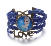 Frozen Infinity Love Leather Strand Bracelet