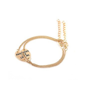 Art Attack Goldtone Partners In Crime Thelma Louise BFF Best Friend Bracelet Charm Gift Set