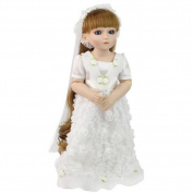 Hmhope 55cm Simulation Reborn Baby Doll Realistic Long Hair Can Stand Silicone Acrylic Eyes Child Toys & Gifts
