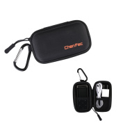 ChenFec MP3 Player Protective Storage Case Bag MP3 Players Earphones Headphone Holder Hard Carrying Case Black