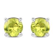 Malaika 1.71 Carat Genuine Peridot .925 Sterling Silver Earrings