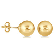 Marquee Jewels 10K Yellow Gold 7-millimetre Ball Stud Earrings
