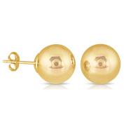Marquee Jewels 14k Yellow Gold Filled Ball Earrings