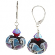 Lolas Jewellery Lola's Jewellery Sterling Silver Multi-coloured Glass and Crystal Earrings