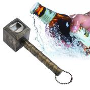 . Beer Bottle Opener,Hammer of Thor Shaped Bottle Opener Wine Corkscrew Beverage Wrench,Gold