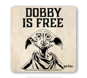 Film - Harry Potter - Dobby Is Free - Coaster - Drink Mat - coloured - original licenced product - LOGOSHIRT