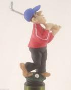 Fore! Golfer Wine Saver Bottle Stopper / Novelty Cake Decoration + Gift Box