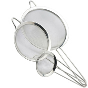Professional Sieve Set/food strainer - Twin Wire Handles, Used By Chefs And Home Cooks To Sift And Strain Ingredients. Well Made With A Robust And Sturdy Stainless Steel Fine Mesh. Taylors Eye Witness