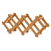 LIXIONG Wine rack 5 Bottles Holder Collapsible bamboo Display Shelves