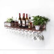 Wall Mounted Metal Wine Rack,European Iron Wine Glass Hanging Rack & Holder